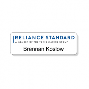 Reliance Standard Life Insurance Silver Name Tag
