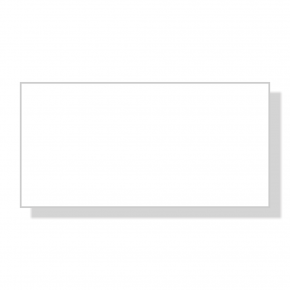 Reusable Dry Erase White Rectangle Name Tag