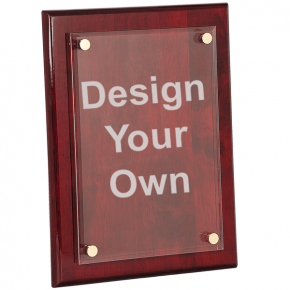 10x13 Rosewood Plaque with Floating Acrylic Engraved Plate
