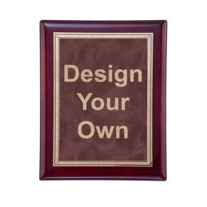 "Rosewood and Ruby 7"" x 9"" Wall Plaque"
