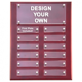 P5340 Rosewood High Gloss Perpetual Plaque 9x12 with 12 Plates