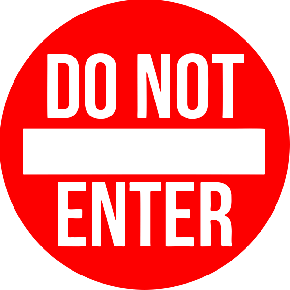 Round Do Not Enter Floor Decal