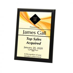 "Sales Goal 5"" X 7"" Full Color Photo Plaque"