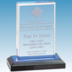 Sales Goal Straight Bevel Acrylic Award