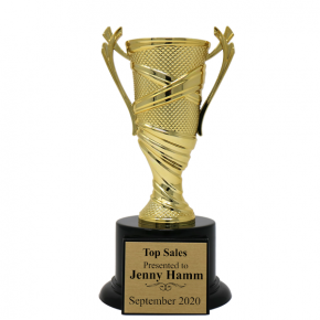 Sales Goals Textured Cup Award Trophy