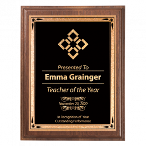 Scholastic Teacher 5 x 7 Walnut Plaque