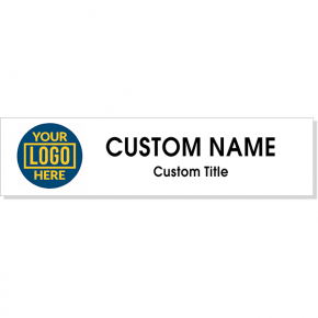 """Full Color 2"""" x 8"""" Wall Plate with Full Color Left Logo"""