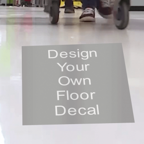 Square Removable Floor Decal - Custom