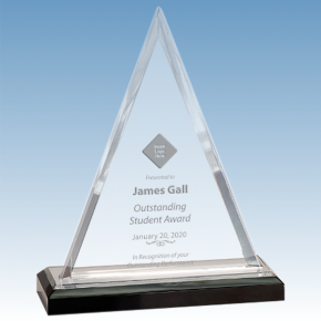 Student Beveled Triangle Acrylic Award