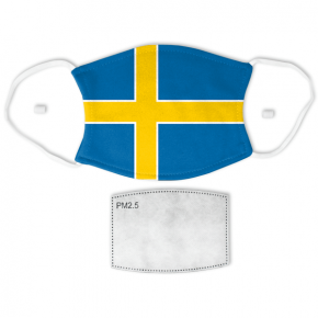 Flag of Sweden Adult Size Face Mask