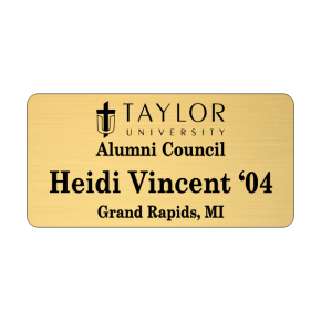 Taylor University Alumni Council Name Tag