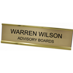 TDLR 2X10 Name Plate with Gold Desk Holder