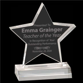 Teacher of the Year Star Acrylic Award