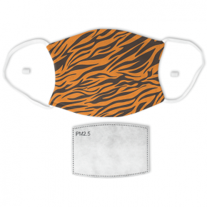 Tiger Stripes Print Adult Face Mask