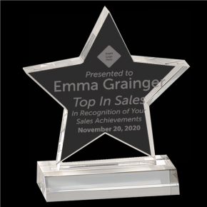 Top Sales Star Acrylic Award