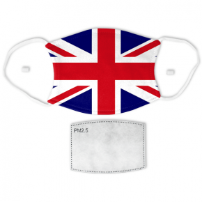Flag of the United Kingdom Adult Size Face Mask