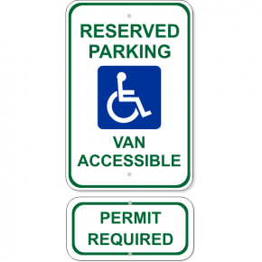 Van Accessible Handicap Sign Bundle