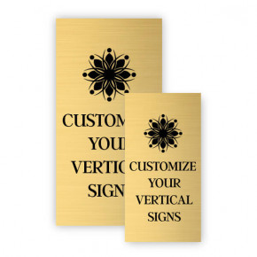 Vertical Engraved Heavy Brass Signs