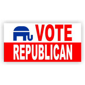 Vote Republican Banner - 2' x 4'