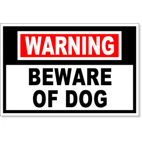 "Warning Beware of Dog Decal | 4"" x 6"""