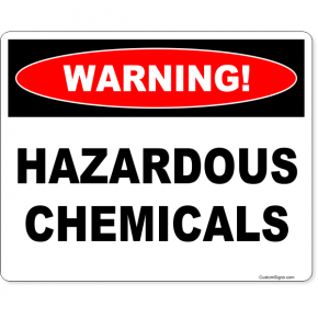 """Warning Hazardous Chemicals Full Color Sign 