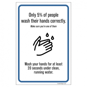 """Wash for 20 Seconds Hand Washing Full Color Sign 