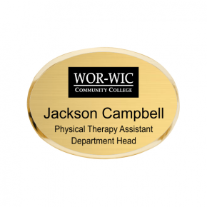 WOR-WIC Community College Name Tag