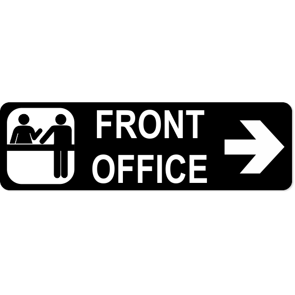 Front Office Right Sign