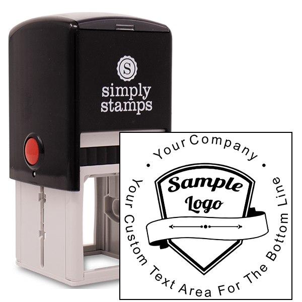 Custom Rubber Stamp Round With Your