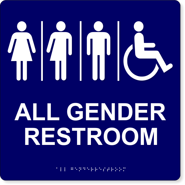 Gender Neutral Restroom ADA Sign | HC Brands