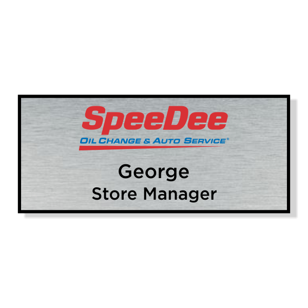 Horizon Promotional Speedee Oil Change Name Tag