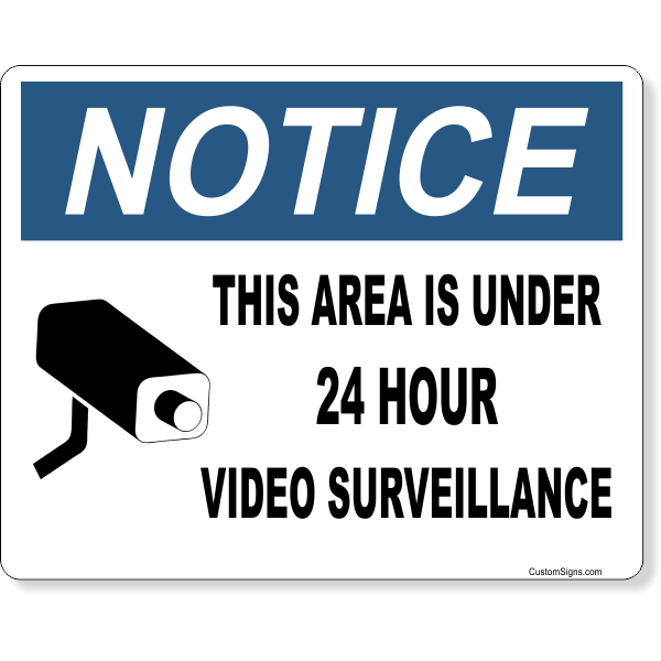 "Notice Video Camera Surveillance Full Color Sign | 8"" x 10"""