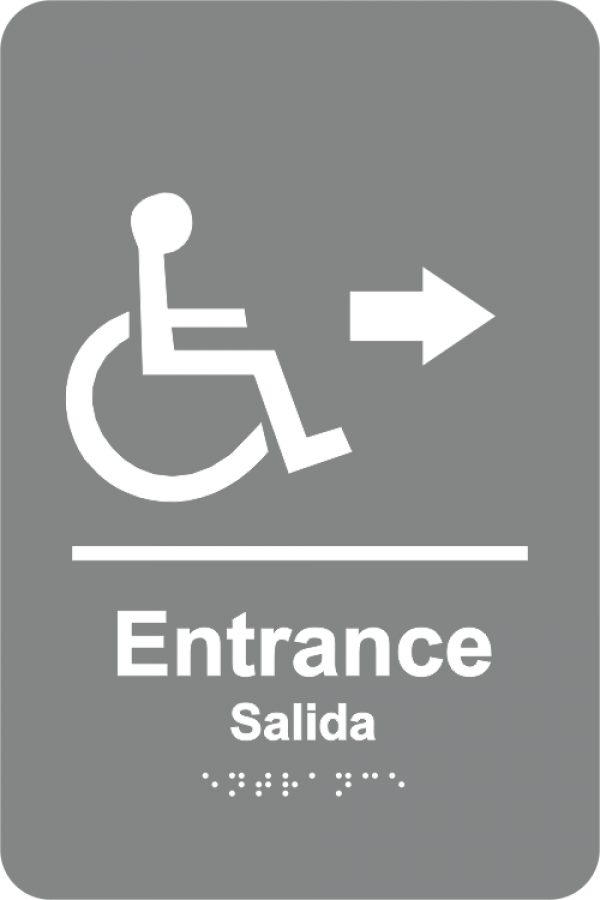 braille handicapped entrance sign w spanish holmes stamp sign