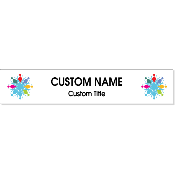 """Double Logo Full Color 2"""" x 10"""" Wall Plate"""
