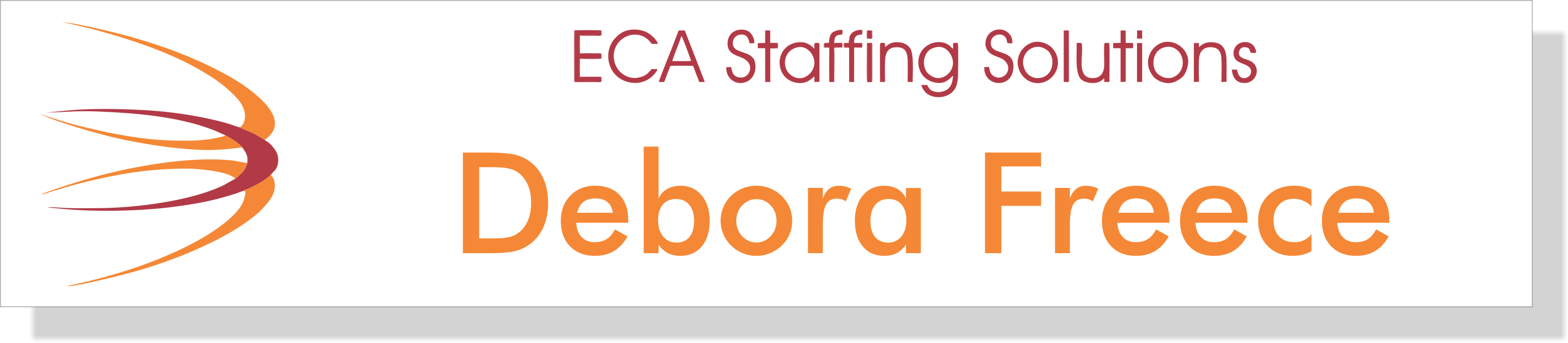 ECA Staffing Name Plate with Holder