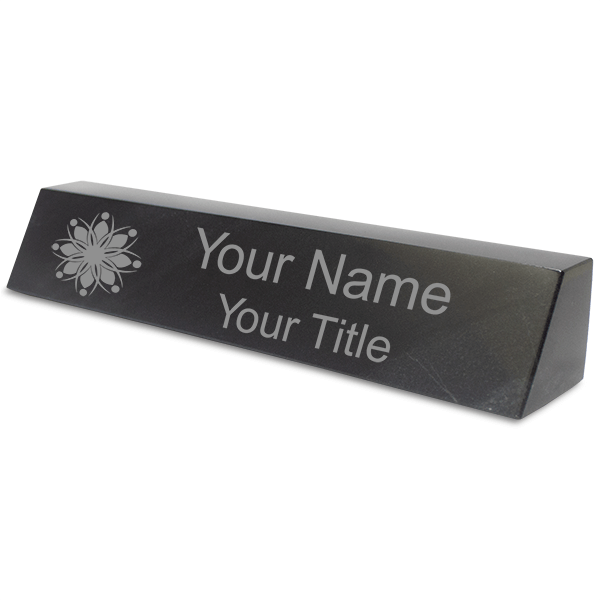 Natural Engraved Marble Desk Name Plate