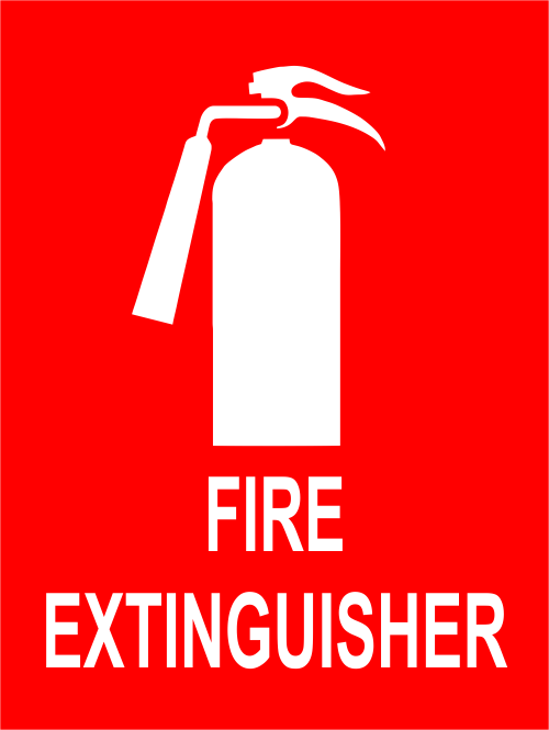 Fire Extinguisher Sign with Symbol - 6