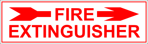 Fire Extinguisher Right Arrow - 3