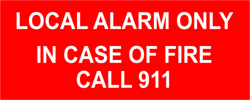 Local Alarm Only In Case of Fire - 2