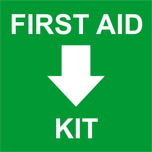 First Aid Kit with Bottom Arrow Engraved Sign - 6