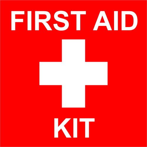 First Aid Kit with Medical Symbol Engraved Sign - 6