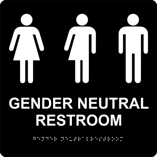 Gender Neutral Restroom Sign - ADA Compliant