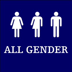Plastic ALL GENDER Sign - 6