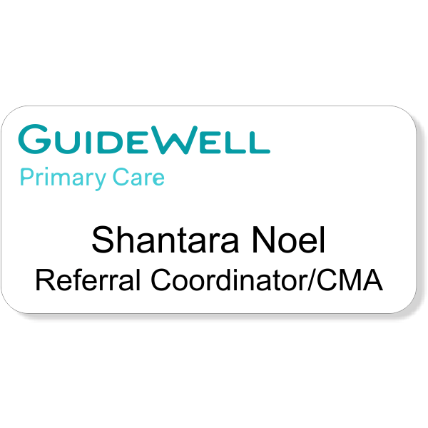 Horizon Promotional Guide Well Primary Care Name Tag