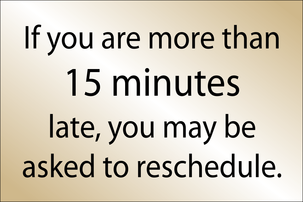 Late Arrival Reschedule Appointment - 8
