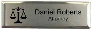 Law Office Small Name Tag with Executive Silver Holder (3