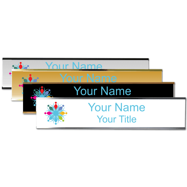 """Left Logo Full Color 2"""" x 10"""" Wall Plate with Holder"""
