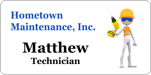 Maintenance Handyman 4 Line Name Tag