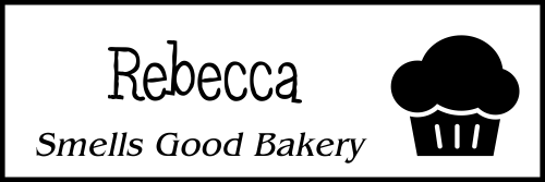 Muffin Bakery Name Tag