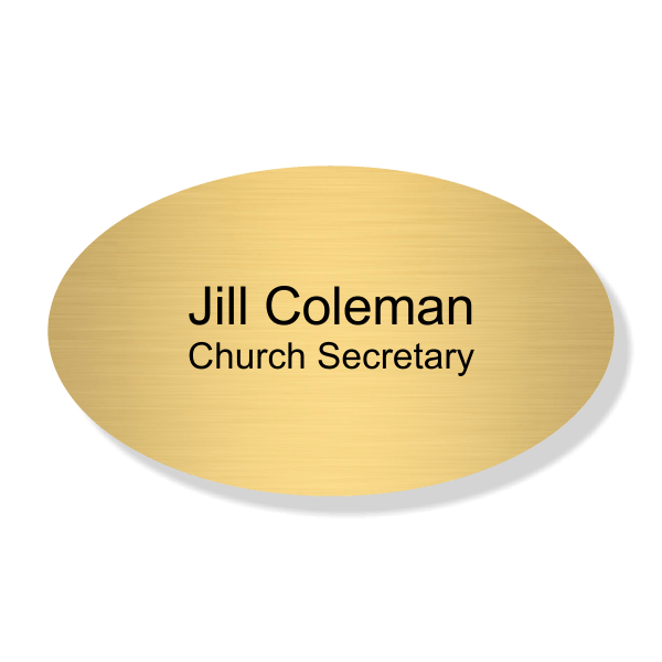 Oval Religious Name Tag